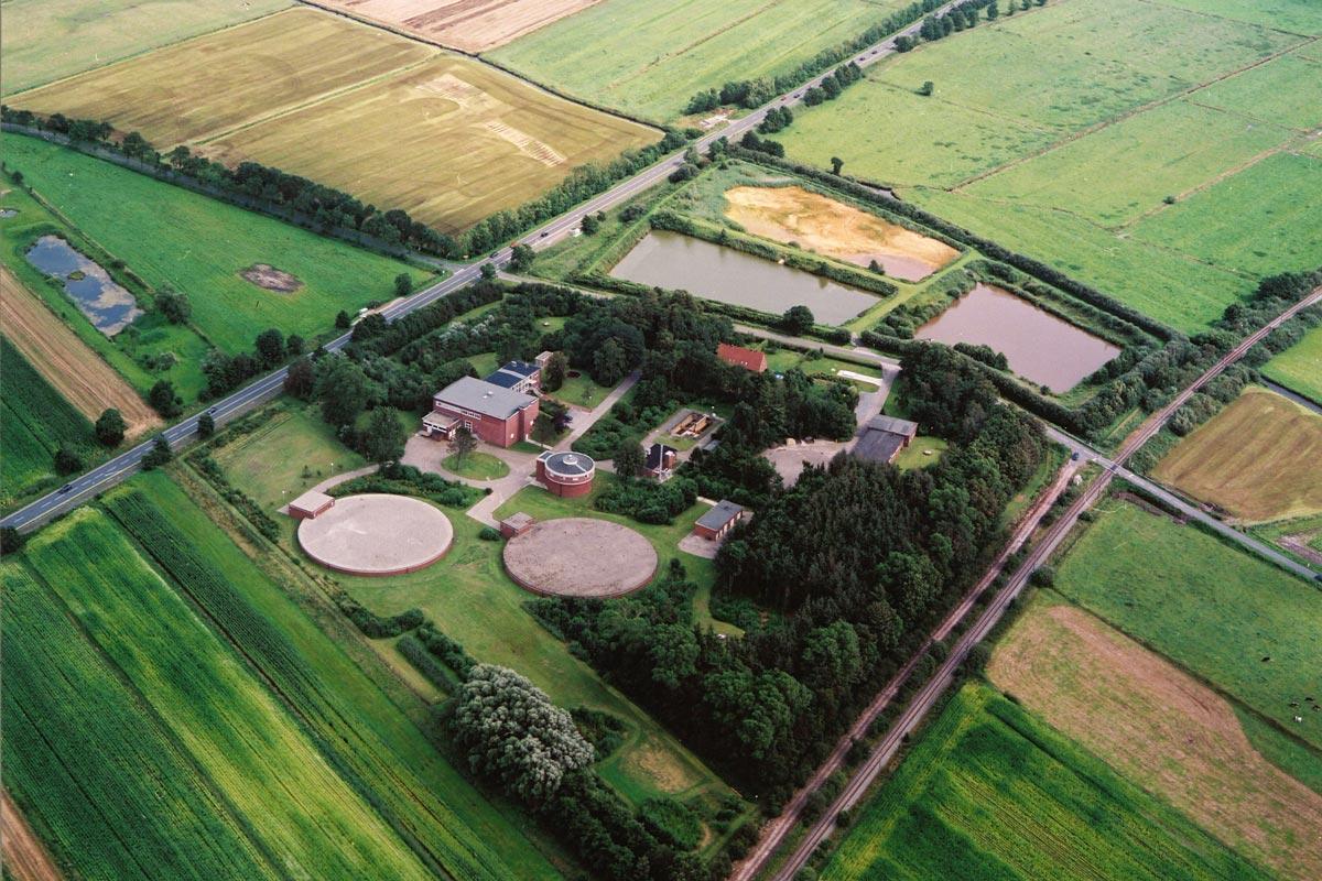 Wasserwerk des OOWV in Marienhafe aus der Luft